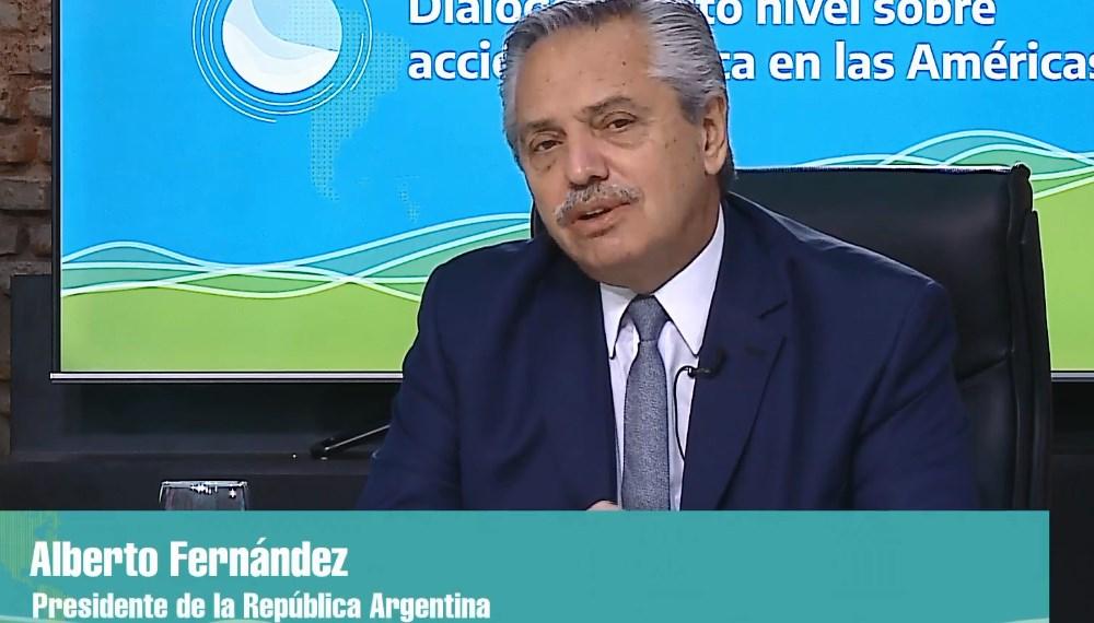 Alberto Fernández en la Cumbre Latinoamericana sobre Cambio Climático