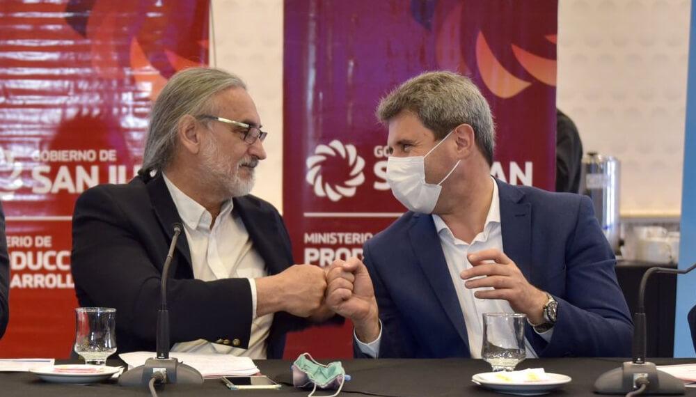 Plan Ganadero - reunion de Basterra con Sergio Uñac