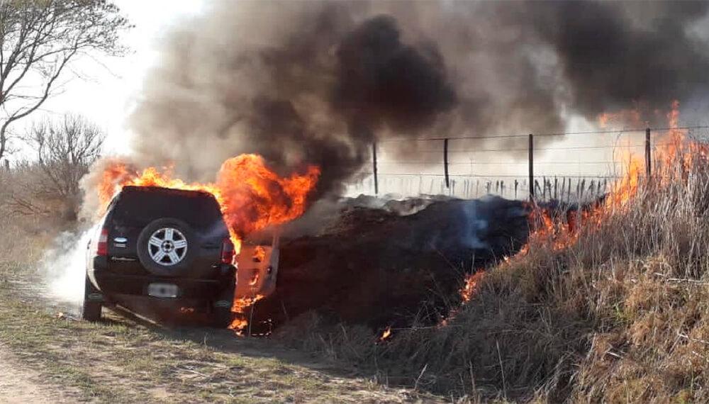 Incendio de auto
